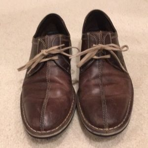 Men's brown leather Cole Haan shoes 8
